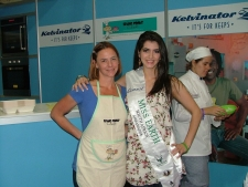Christine and Miss Earth at Good Food and Wine Show