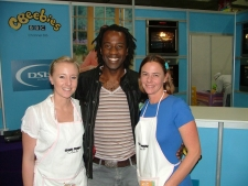Sid from Cbeebeies with Christine and Deborah
